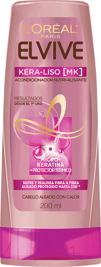 Conditioner 200ml Kera Liso Acondicionador Nutri Alisante Elvive Kera Liso Packshot