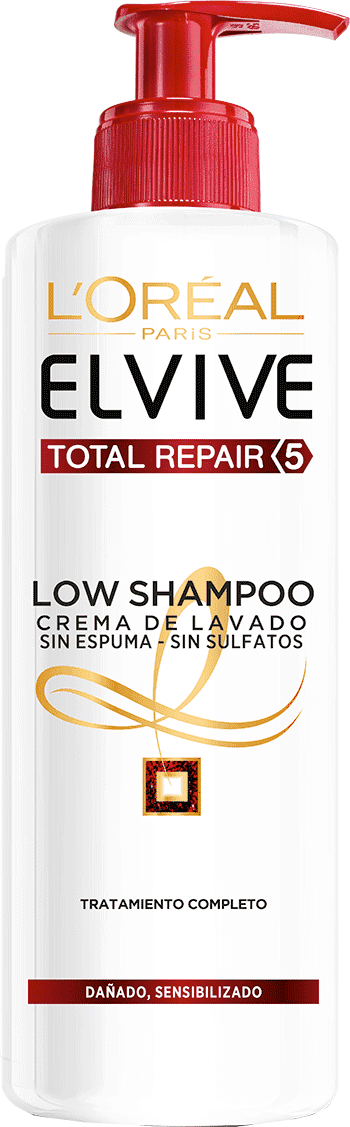 Shampoo 400ml Reparacion Total 5 Low Shampoo Elvive Reparacion Total 5 Packshot