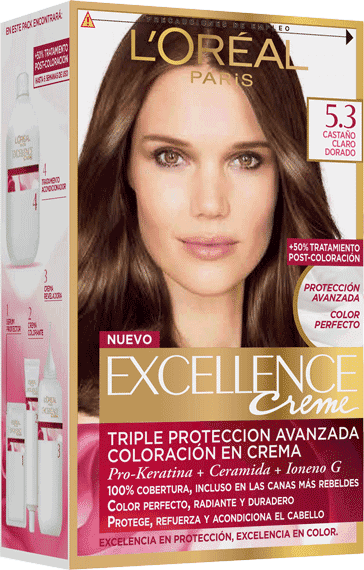 Permanent Hair Color Castano Claro Dorado Excellence Packshot