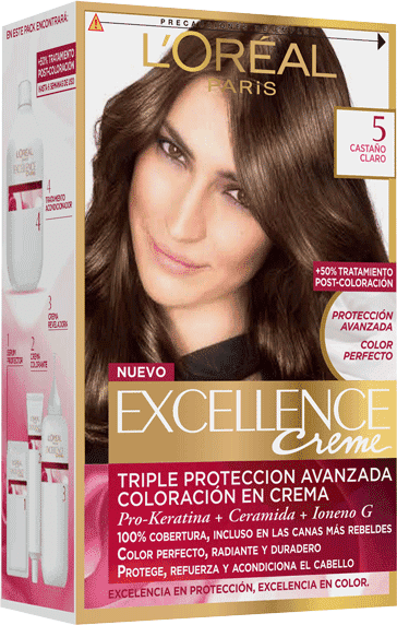 Permanent Hair Color Castano Claro Excellence Packshot