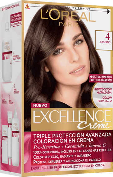 Permanent Hair Color Castano Excellence Packshot