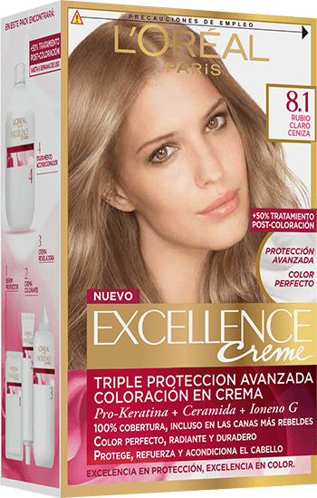 Permanent Hair Color Rubio Claro Ceniza Excellence Packshot A