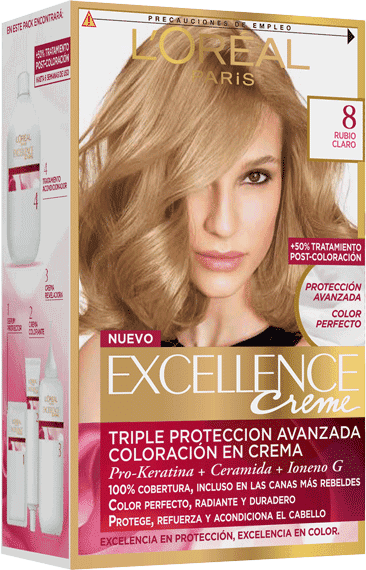 Permanent Hair Color Rubio Claro Excellence Packshot