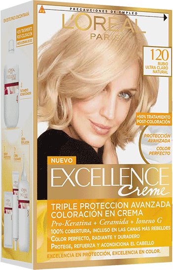 Permanent Hair Color Rubio Ultra Claro Natural Excellence Packshot