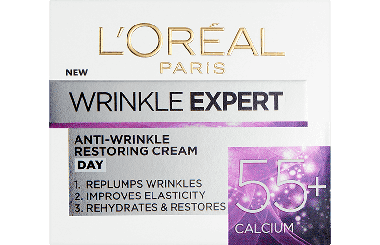 Anti Aging Cream Wrinkle Expert 55 Front Pack