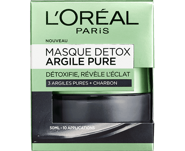 Skincare Black Detox Pure Clay Packshot Box Front